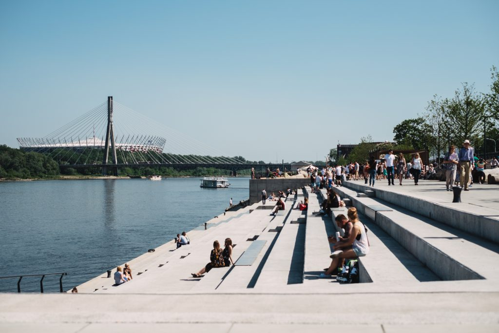 Promenade at the river - free stock photo