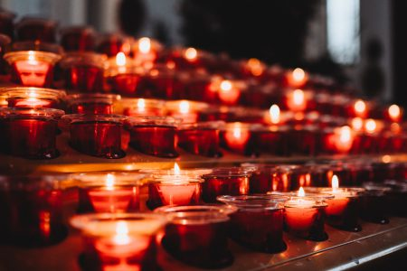 Votive candles 7 - free stock photo