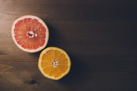 Grapefruit and orange cut in half 2 - free stock photo