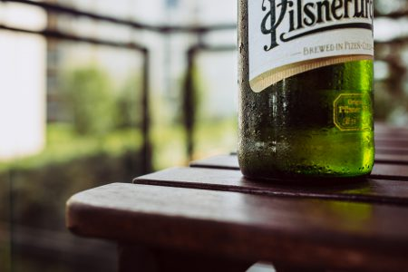 A bottle of cold beer - free stock photo