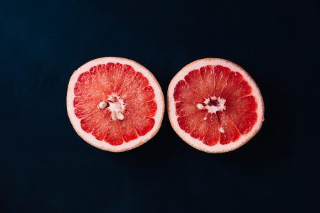 Grapefruits cut in half 3 - free stock photo