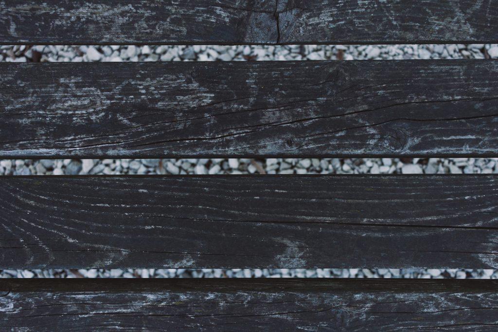 Wooden bench closeup - free stock photo