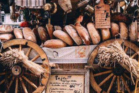 Bread display at the Saint Dominic's Fair - free stock photo