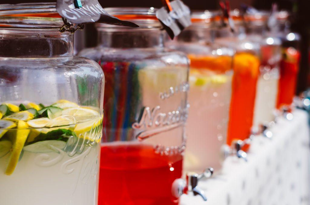 Fruit lemonades - free stock photo