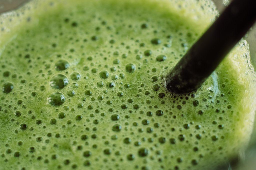 Green cocktail closeup - free stock photo