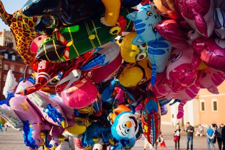 Helium cartoon balloons closeup 2 - free stock photo