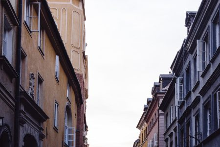 Old Town street in the late afternoon - free stock photo