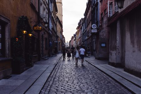 Old Town street in the late afternoon 2 - free stock photo