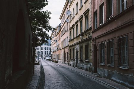 Old Town street in the late afternoon 3 - free stock photo