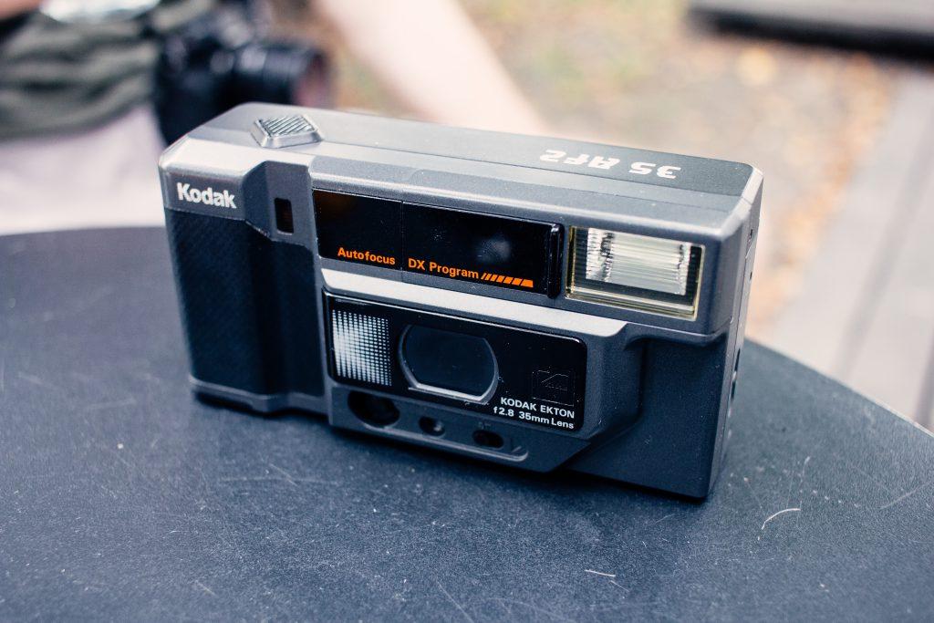 Compact automatic film camera - free stock photo
