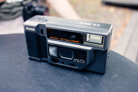 Compact automatic film camera - free stock photo