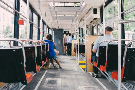 Inside of a tram 2 - free stock photo