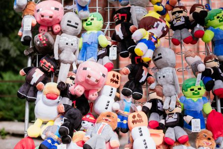 Pixel plush toys - free stock photo