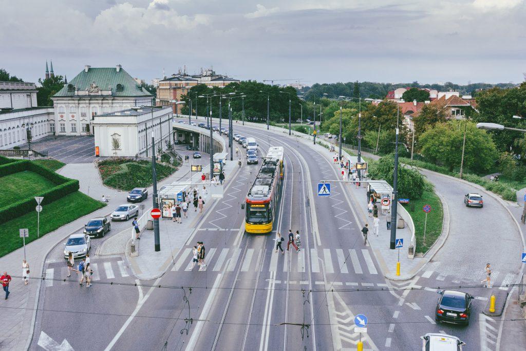 Street running tram stops - free stock photo