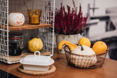 Halloween kitchen decoration - free stock photo