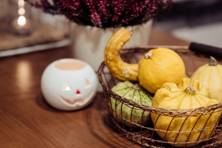 Halloween kitchen decoration closeup 3 - free stock photo