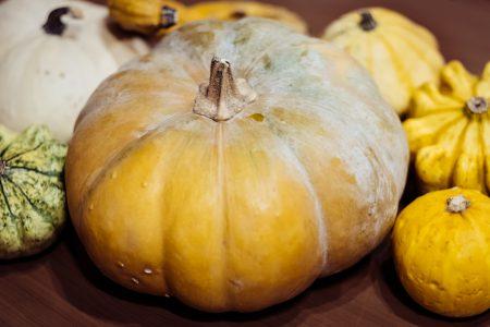Halloween pumpkins closeup - free stock photo