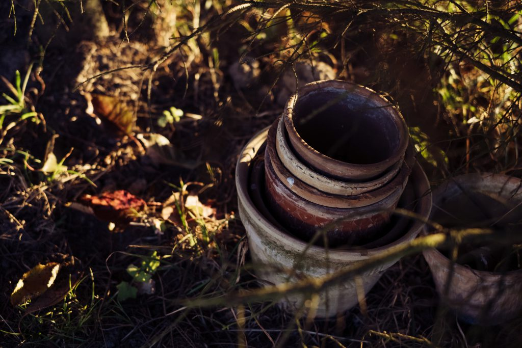Old clay flower pots 3 - free stock photo