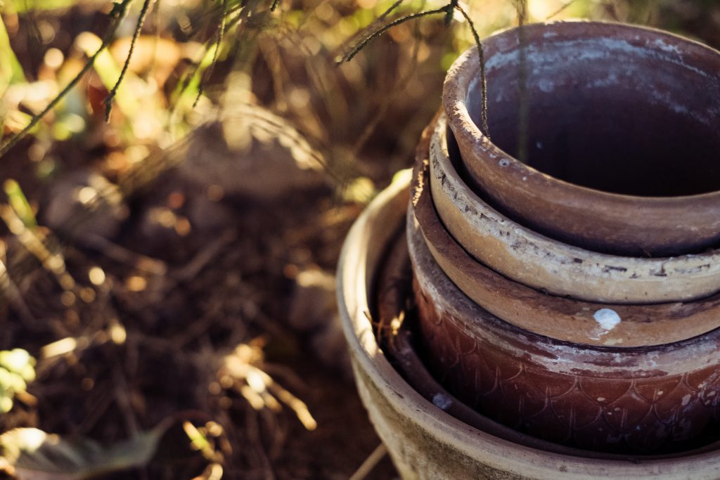 Old clay flower pots 4 - free stock photo