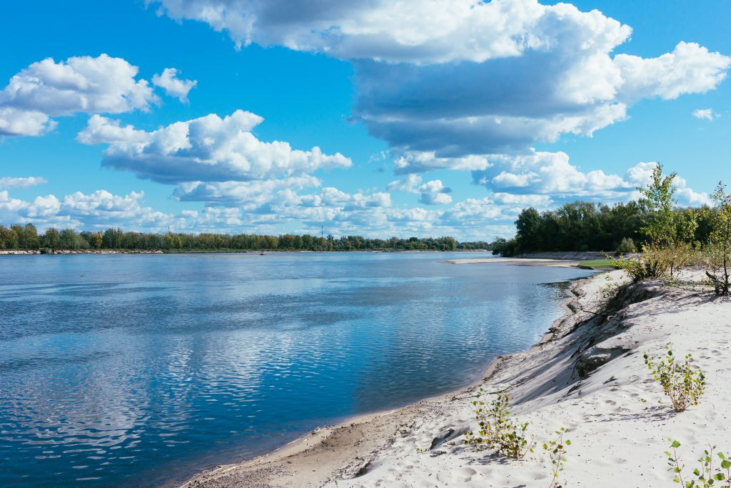 Sandy beach at the river 2 - free stock photo