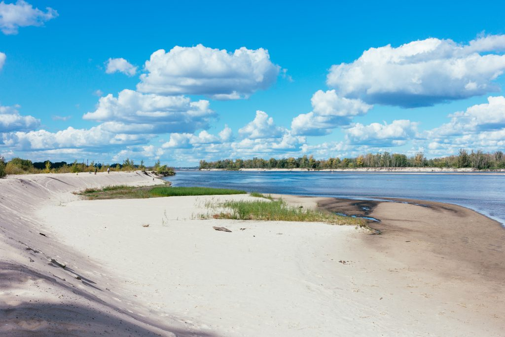 Sandy beach at the river 3 - free stock photo