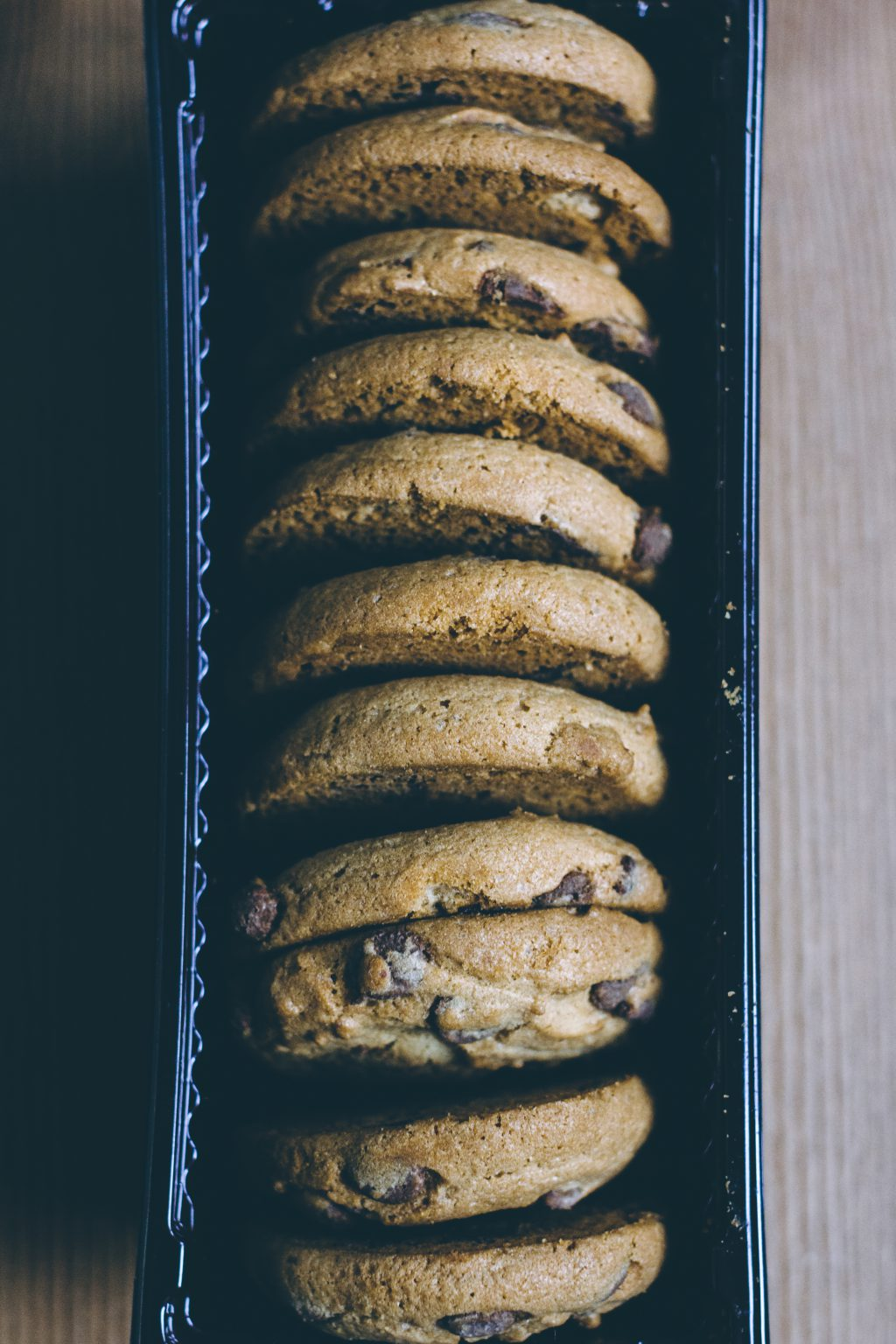 Chocolate chip cookies in a box 2 - free stock photo