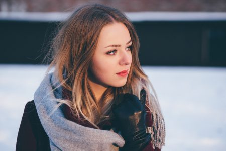 A girl winter portrait 6 - free stock photo