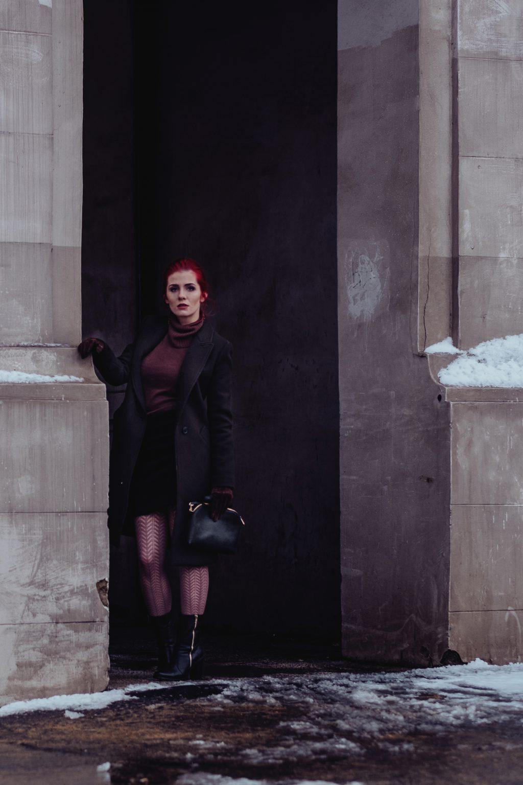 Redhead model winter shoot 3 - free stock photo