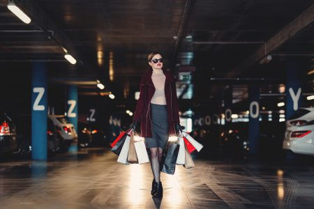 Shopping freak in the parking lot 2 - free stock photo