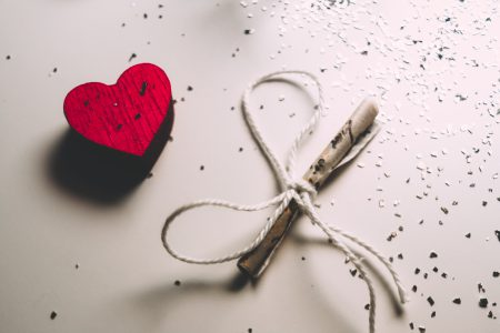 Tiny letter and a wooden heart 2 - free stock photo