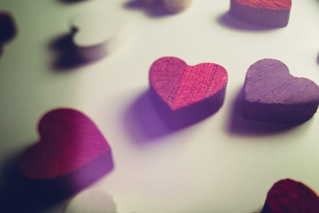 Wooden hearts 2 - free stock photo