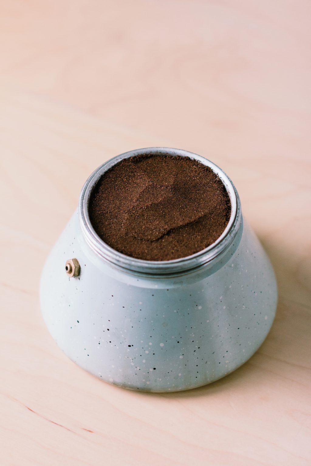Ground coffee in a percolator - free stock photo