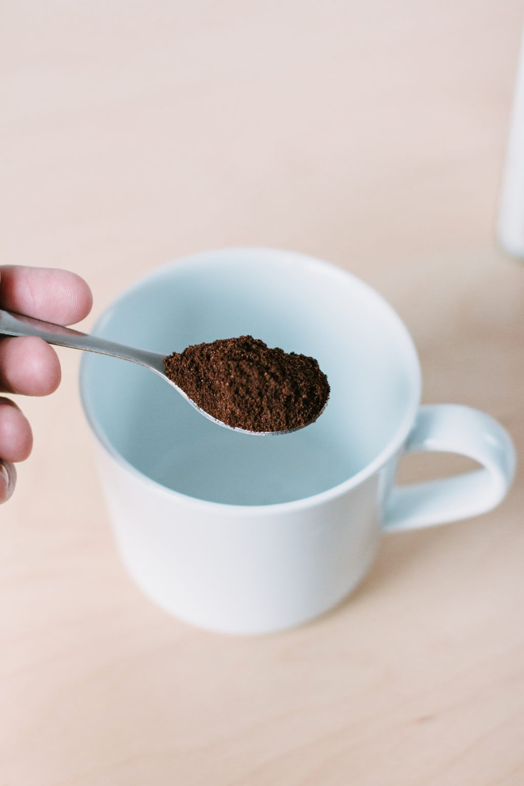 Ground coffee in a spoon 2 - free stock photo