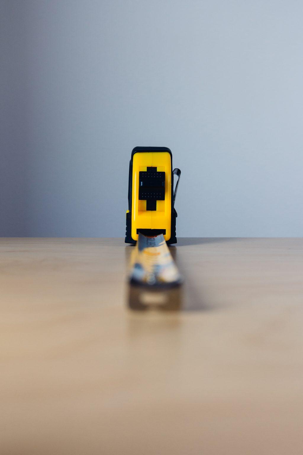 Metal tape measure tool 2 - free stock photo
