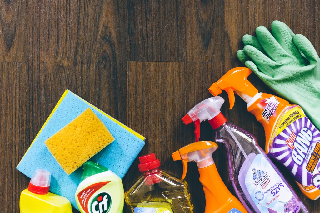 Household cleaning products - free stock photo