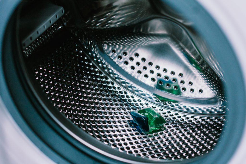 Laundry detergent pod inside a washing machine 2 - free stock photo