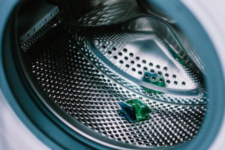 Laundry detergent pod inside a washing machine 2 - free stock photo