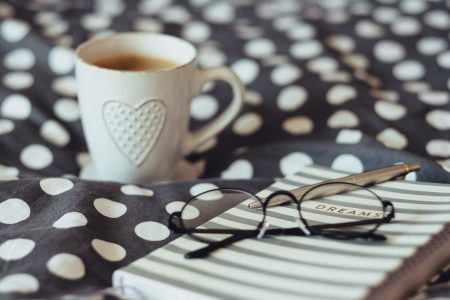 Dreams notebook, glasses and coffeemug 2 - free stock photo