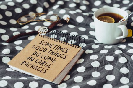 Good things notebook - free stock photo