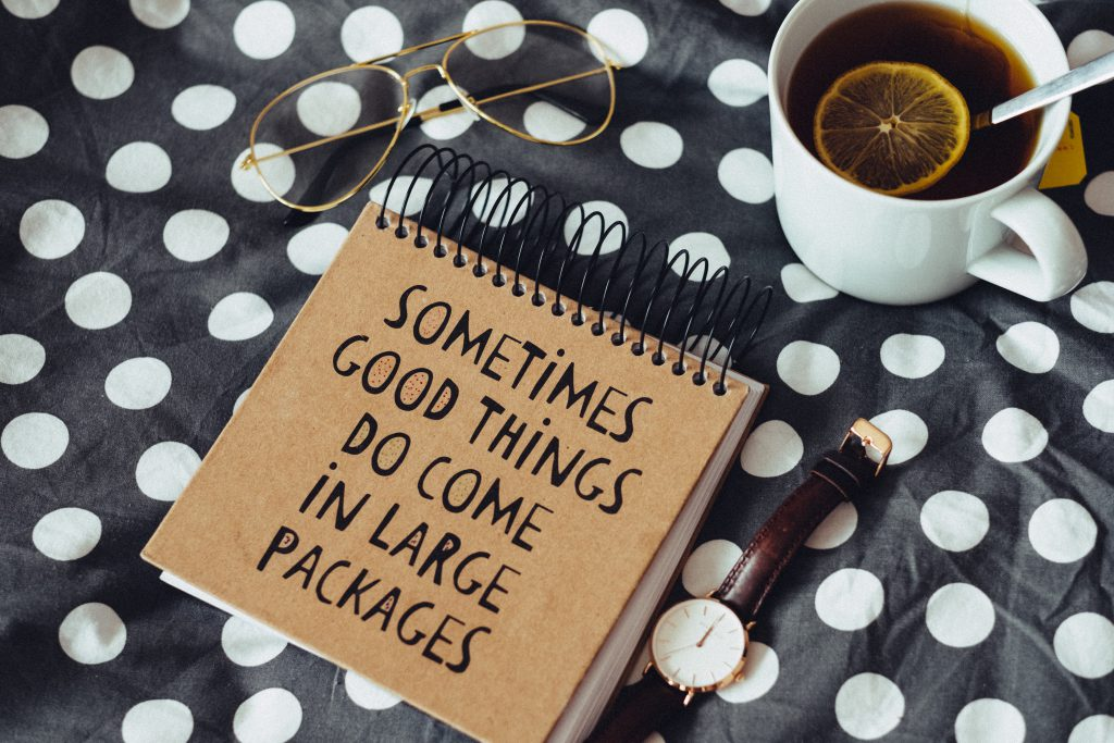 Good things notebook 2 - free stock photo
