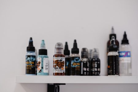 Tattoo ink bottles - free stock photo
