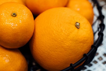 Bowl of oranges and mandarins - free stock photo