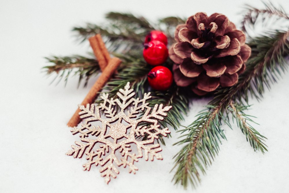 Christmas spruce decoration 2 - free stock photo