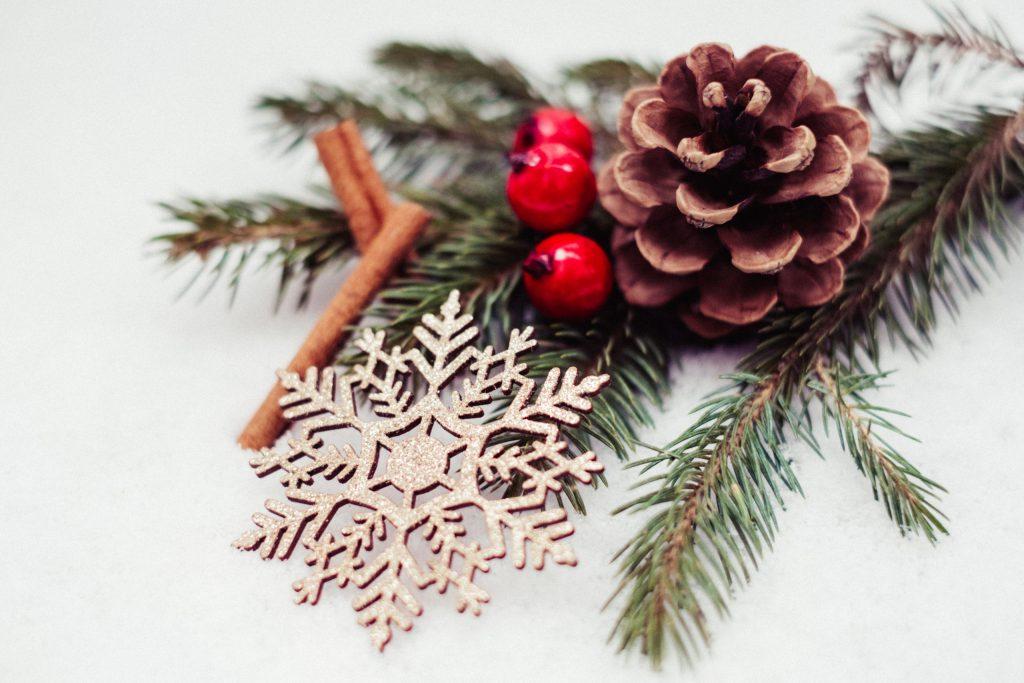 Christmas spruce decoration 2 - free stock photo