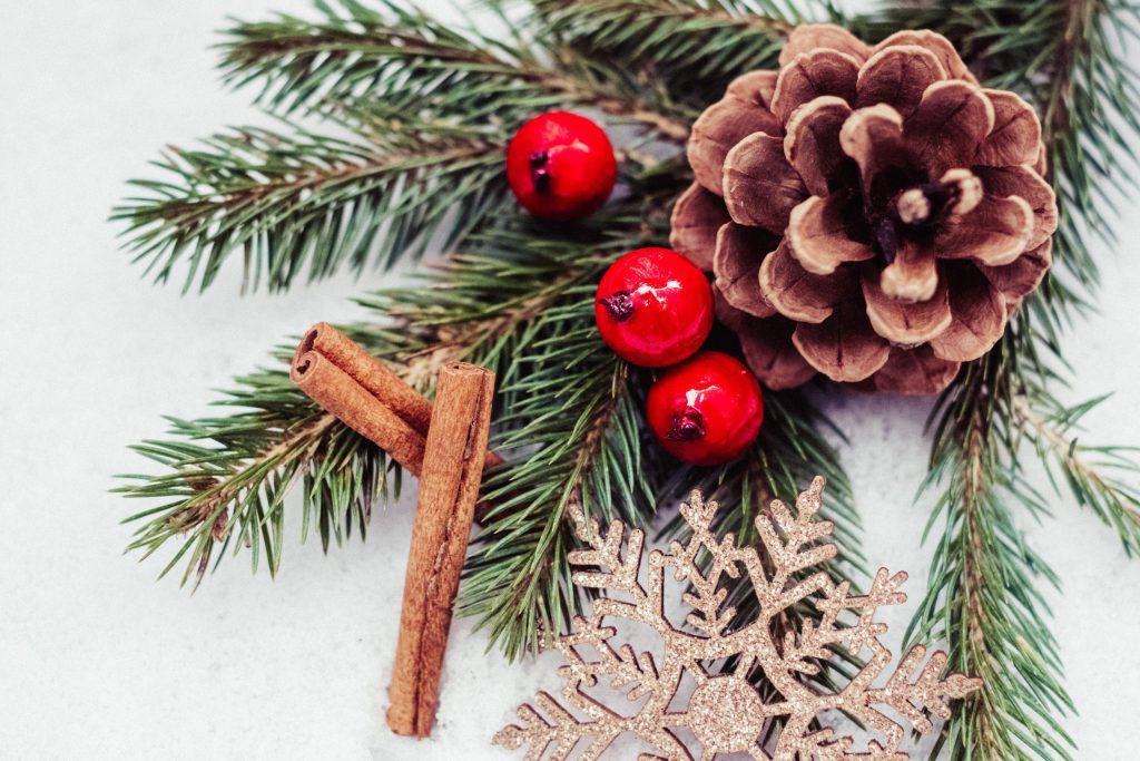Christmas spruce decoration 3 - free stock photo