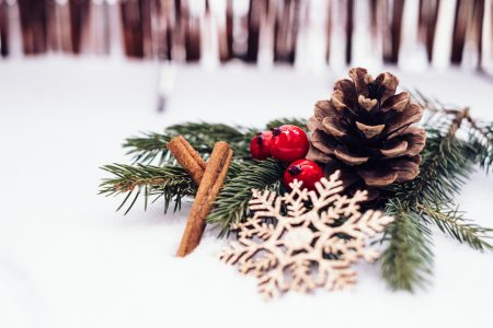 Christmas spruce decoration 4 - free stock photo