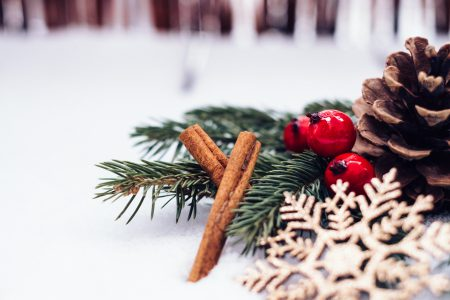 Christmas spruce decoration 5 - free stock photo