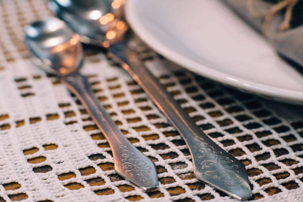 Decorative cutlery closeup - free stock photo