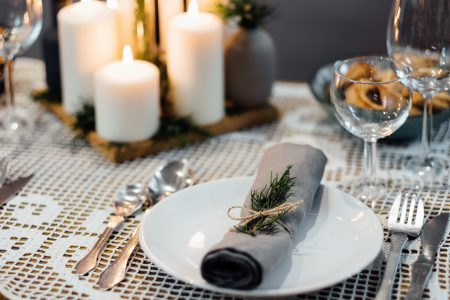 Festive table setup - free stock photo