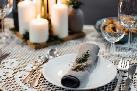 Festive table setup - free stock photo